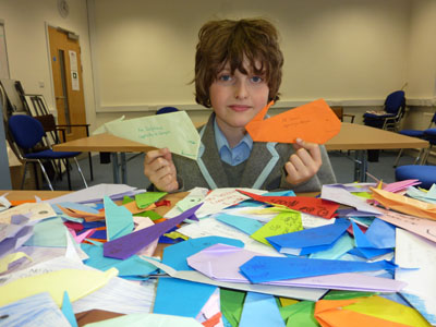 Make your origami whale