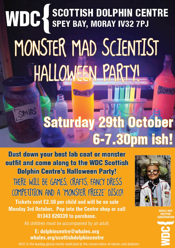 Celebrate Halloween at the Scottish Dolphin Centre