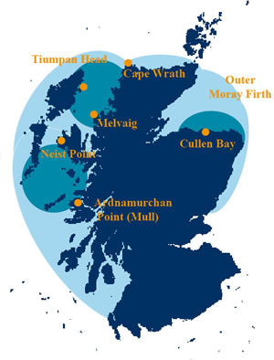 Minke whale distribution map